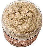 Prior to any self tan application it is imperative you exfoliate your body. If you don't the color will attach itself to the dry patches and the tan will look uneven. I love this LaLicous Souffle Scrub because it exfoliates & moisturizes! $32!