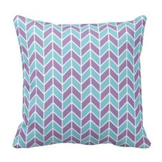 Shop Blue and Purple Chevron Pattern Throw Pillow created by PatternPlethora. Purple Throw Pillows, Decorative Throw Pillows, Purple Chevron, Pillow Quotes, My New Room, Shades Of Purple, Custom Pillows, Pattern, Blue