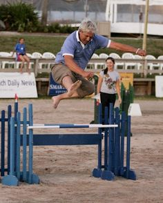 Horseless Horse Jumping Competition. Hahaha I have done this many times