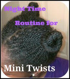 Night Time Routine for Mini Twists  ClassyCurlies.com