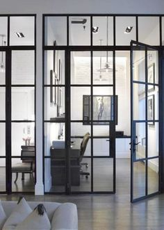 drzwi szklane w czarnych ramach - Szukaj w Google