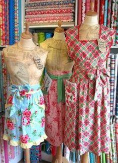 vintage aprons by CookieMonsTeRg0RAWR