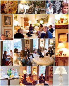 What we can make of Kate & William's apartment at Kensington Palace - seen when the Obamas had dinner with them in April. 1: As well as scented candles, they love decorating with lamps. There are eight cream silk £885 Alba Alabaster Urn table lamps from Vaughan Designs in the sitting room creating that lovely ambiance you can see above. 2: Family photos line the side tables. They include a few precious moments with Princess Diana as well as some of the Duke and Duchess in their early 20's…