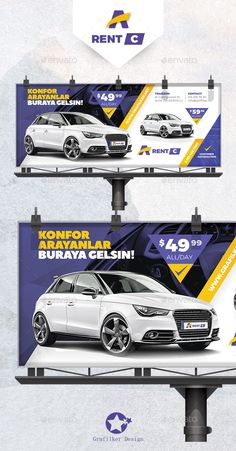 Buy Rent A Car Billboard Templates by grafilker on GraphicRiver. Rent A Car Billboard Templates Fully layered INDD Fully layered PSD 300 Dpi, CMYK IDML format open Indesign or la. Graph Design, Web Design, Web Banner Design, Roll Up Design, Billboard Design, Car Brochure, Car Advertising, Advertising Design, Facebook Timeline Covers