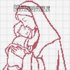 Resultado de imagem para Gráfico Nossa Senhora e o Menino Jesus ponto cruz
