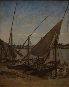 Dutch Painters Emile Wauters, Boats on the Nijl, 1868 Dutch Painters, Art For Art Sake, Sailing Ships, Boats, Painting, Boating, Painting Art, Paintings, Ships