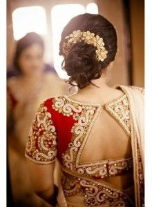 Perfect South Indian Bridal Hairstyles For Receptions – Indian Bride Hairstyle For Short Hair In Saree Choli Designs, Hair Designs, Indian Bridal Hairstyles, Indian Wedding Hairstyles, Saree Blouse Patterns, Saree Blouse Designs, Medium Hair Styles, Short Hair Styles, Sari Bluse
