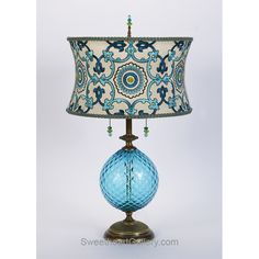 Ingrid Table Lamp 129K117 By Kinzig Design, Colors Turquoise, Blue, Lime,  Blown