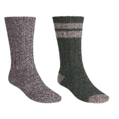 Amazon.com: Woolrich Ragg Socks - 2-Pack, Midweight, Crew Medium Brown/Olive: Clothing
