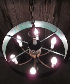 Industrial Chandelier  Industrial Hanging Light  by MetalMorphos, $150.00
