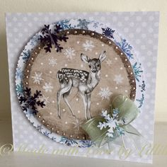 Card created by Elisabeth Hogarth from Craftwork Cards Frozen Forest collection   Made with Love by Lillibet