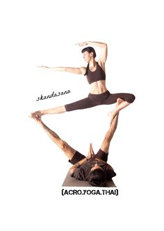 (ACRO.YOGA.THAI) Acroyoga poses from our book :) yoga asana: skandasana