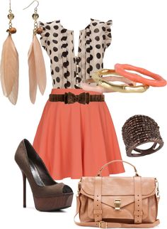 """""""Spots And skirts"""" by pinkangelrocks246 on Polyvore"""