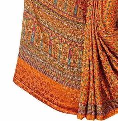約5.5m★インド製サリー生地★エスニックな服、インテリア素材に