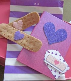 FELT BANDAIDS!!!  The Doc is IN! A Doc McStuffins Birthday Party | CatchMyParty.com