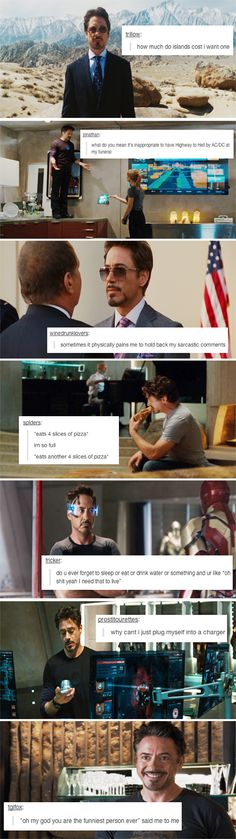 If Tony Stark were on Tumblr... The Deep Thoughts of Iron Man.