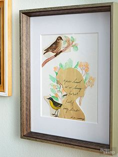 Stoke the nostalgia by embellishing a wood veneer silhouette with a handwritten line of poetry and watercolor flowers.