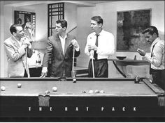 The Rat Pack at the Pool Table