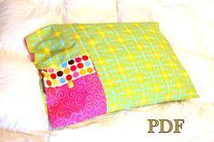 Pocket pillowcase sewing pattern pdf sleepover by tookiesbytrish