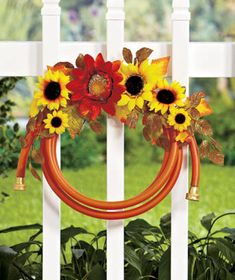 Floral Garden Hose Wreaths