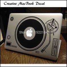 "DJ Technics Deck Record Player Laptop Sticker for Apple Macbook Decal Air Pro Retina 11"" 12"" 13"" 15 Decorative Mi Notebook Decal"