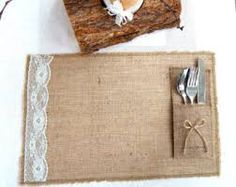 Image result for hessian placemats