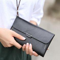 f12b8f402eb9 Handmade leather vintage women long multi cards wallet clutch purse wallet.  SzékekTáskákBőr