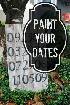 Between The Lines – A Painted Date Project