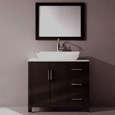 Shop Kokols USA Kokols WF-7018 36-in Single Vanity Cabinet with Ceramic Sink at ATG Stores. Browse our bathroom vanities, all with free shipping and best price guaranteed.