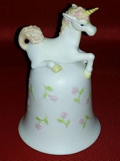 ALDON 1983 Porcelain Ceramic Bisque UNICORN Bell