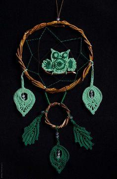 Dream Catcher Wise Owl. #handmade  #handmade #novorossiysk #souvenirs #handicraft #gift #workshop #сreativity #creation #ethno #boho #dreamcatchеr #art Wise Owl, Handicraft, Dream Catcher, Crochet Earrings, Workshop, Sewing, Handmade, Gifts, Art