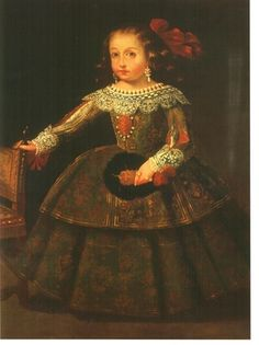 Portrait of Manuela Molina Mosqueira y de la Barrera by an unidentified artist. Viceroyalty of New Spain. Private collection, Mexico (1664 or before)