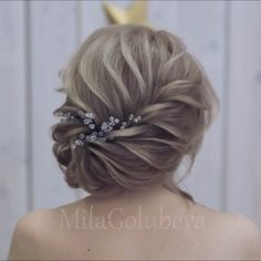 Glam Updo Styles For Wedding! Glam Updo Styles For Wedding! Side Braid Hairstyles, Short Hair Updo, Braids For Long Hair, Wedding Hairstyles, Hairstyle Ideas, Short Hair Styles Easy, Medium Hair Styles, Hair Upstyles, Updo Styles