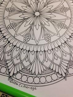 Ornamental Flower Mandala 006 Coloring Page Mandala Only