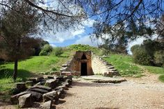 The so called Treasury of Atreus (or Tomb of Agamemnon). The best preserved Mycenaean funerary monument c. Included in UNESCO's World Heritage List. Visit Greece, Mycenaean, Environmental Design, Archaeological Site, Antiquities, Ancient Greece, Holiday Destinations, World Heritage Sites, Monuments