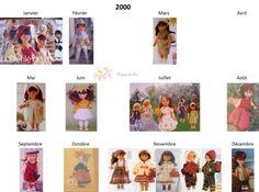 Modes et Travaux - Patrons poupée 2000