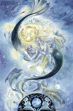"""Pisces"" | © Stephanie Law | Llewellyn Astrological Calendar 2011"