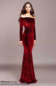 Elegant Dresses, Beautiful Dresses, Sexy Dresses, Fashion Dresses, Women's Fashion, Ladies Fashion, Mermaid Evening Dresses, Evening Gowns, Black Velvet Dress