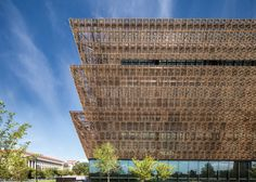 Work has completed on the Smithsonian National Museum of African American History and Culture by British architect David Adjaye, which is poised to open next month. African American History, National Museum, Washington Dc, Skyscraper, Louvre, David, Exterior, Dezeen, Architecture