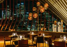 Neoz Cordless Lamp at Bennelong Restaurant, Sydney Opera House
