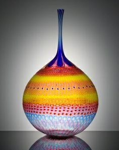 """Winking Tangy Orb"" by Stephen Rolfe Powell (A Place to Dwell: Glass Art)."