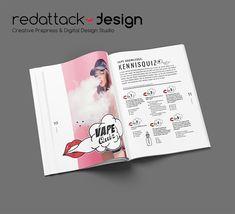 Design en opmaak van een mooi fancy blad met mooie foto's en illustraties Design Studio, Magazine Design, Infographic, Fancy, Cover, Artwork, Creative Design, Infographics, Work Of Art