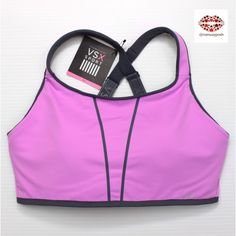 THE ULTIMATE CROSS-TRAIN SPORT BRA NWT purple/grey  VS sport bra. Maximum support, extra cushioned back panel for comfort during floor exercise. Fully adjustable straps. Victoria's Secret Intimates & Sleepwear Bras