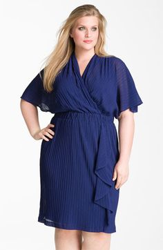 Donna Ricco Ruffle Chiffon Dress (Plus) available at #Nordstrom
