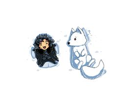 Snow Angel by Tee Turtle. Jon Snow and Ghost | Game of Thrones.