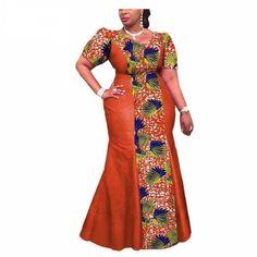 Private Custom African Print Traditional Ankara Dress for Women – Owame Ankara Dress Styles, African Maxi Dresses, Latest African Fashion Dresses, African Dresses For Women, African Print Fashion, Africa Fashion, African Attire, African Wear, Lace Dresses