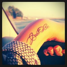 Just be wrist tatoo Dream Tattoos, Future Tattoos, Love Tattoos, Beautiful Tattoos, Tatoos, Script Tattoos, Incredible Tattoos, Anchor Tattoos, Bird Tattoos
