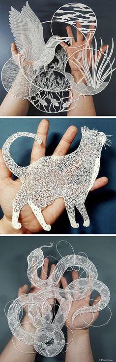 Superb Cut Paper Artworks by Pippa Dyrlaga