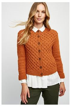 Knitwear - Honeycomb Cardigan in Glazed Ginger 37aac32dbbcd