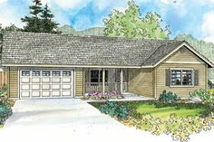 Exterior - Front Elevation Plan #124-769 - Houseplans.com